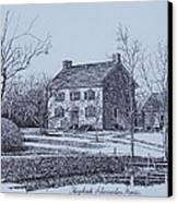 Hezekiah Alexander House Etching Canvas Print