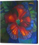 Hibiscus Canvas Print by Susan Hanlon
