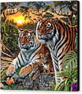 Hidden Images - Tigers Canvas Print by Steve Read