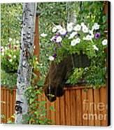 Hiding Moose Canvas Print by Jennifer Kimberly