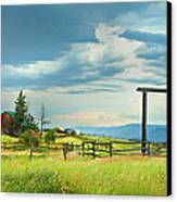 High Country Farm Canvas Print by Theresa Tahara