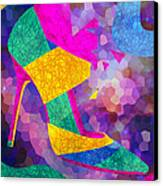 High Heels On Ropes Canvas Print by Pierre Louis