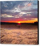 High Plains Sunrise Canvas Print by Ric Soulen
