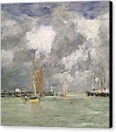 High Tide At Trouville Canvas Print