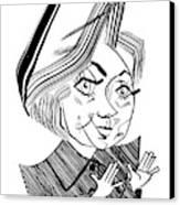 Hillary Clinton Debate Canvas Print