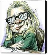 Hillaryvision Canvas Print by Taylor Jones