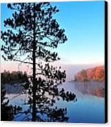 Hilltop View Of Stoneledge Lake Canvas Print by Terri Gostola