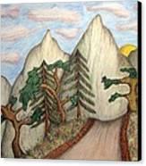 Himalaya Dharamkot Path Canvas Print