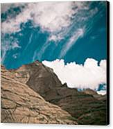 Himalyas Mountains In Tibet With Clouds Canvas Print by Raimond Klavins