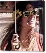 Hippie Chick Canvas Print by Sharon Costa