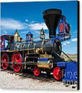 Historic Jupiter Steam Locomotive - Promontory Point Canvas Print by Gary Whitton