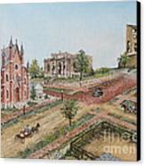 Historic Street - Lawrence Ks Canvas Print