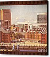 Historical Red Brick Warehouses Canvas Print
