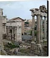 Historical Ruins Canvas Print by Fraida Gutovich