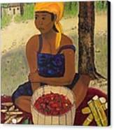 History Behind Caribbean Food Produces Canvas Print