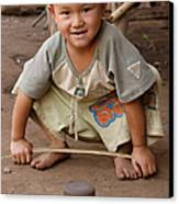Hmong Boy Canvas Print by Adam Romanowicz