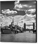 Hms Belfast London Canvas Print by Ed Pettitt