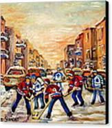 Hockey Daze Canvas Print