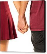 Holding Hands Canvas Print by Carlos Caetano