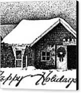 Holiday Barn Canvas Print