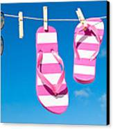 Holiday Washing Line Canvas Print by Amanda And Christopher Elwell