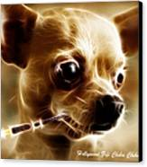 Hollywood Fifi Chika Chihuahua - Electric Art - With Text Canvas Print