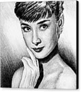 Hollywood Greats Hepburn Canvas Print
