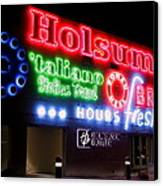 Holsum Neon Las Vegas Canvas Print by Kip Krause