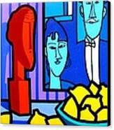 Homage To Modigliani Canvas Print