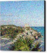 Homage To Vincent Had He Only Seen Cozumel II Canvas Print