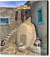 Home On Taos Pueblo Canvas Print by Sandra Bronstein