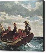 Homer, Winslow 1830-1910. Breezing Up A Canvas Print