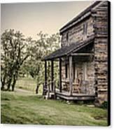 Homestead At Dusk Canvas Print by Heather Applegate