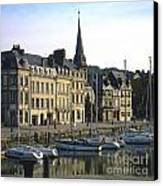 Honfleur Harbour. Calvados. Normandy. France. Europe Canvas Print by Bernard Jaubert