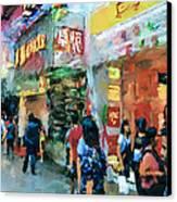 Hong Kong Around Nathan Road Canvas Print by Yury Malkov