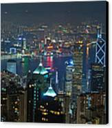 Hong Kong Night Scene Canvas Print