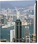 Hong Kong Skyline Canvas Print by Lars Ruecker
