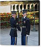 Honor Guard Inspection Canvas Print by John Greim