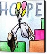 Hope Afloat  Canvas Print by Kiara Reynolds