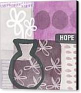 Hope- Contemporary Art Canvas Print by Linda Woods