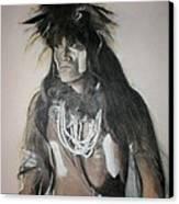 Hopi Snake Priest Canvas Print by Terri Ana Stokes