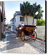 Horse And Buggy Ride St Augustine Canvas Print by Michelle Wiarda