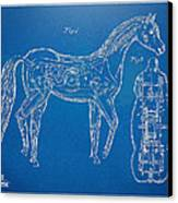 Horse Automatic Toy Patent Artwork 1867 Canvas Print by Nikki Marie Smith