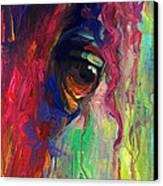 Horse Eye Portrait  Canvas Print by Svetlana Novikova