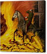 Horse On The Fire Canvas Print by Manuel Lopez