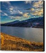 Horsetooth Reservoir Late Afternoon Canvas Print by Harry Strharsky