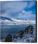 Horsetooth Reservoir Looking North Canvas Print by Harry Strharsky