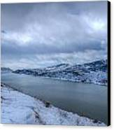Horsetooth Reservoir Looking South Canvas Print by Harry Strharsky