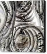 Hose And Plastic Canvas Print by Dietrich ralph  Katz