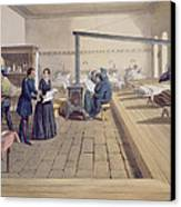 Hospital At Scutari, Detail Of Florence Canvas Print by William 'Crimea' Simpson